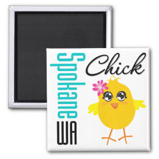 Spokane WA Chick Fridge Magnets