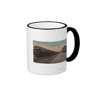 Spokane, WA - opinión N. Pacific Train y depósito Tazas