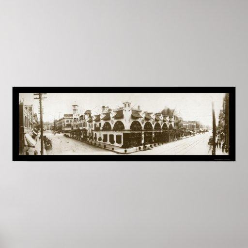 Spokane WA Restaurant Photo 1908 Print