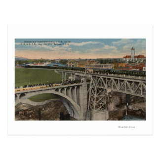 Spokane, WA - Union Pacific Railway Completion Postcard