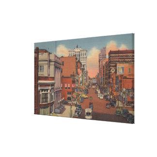 Spokane, WA - View of Riverside Ave. Canvas Print