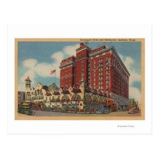 Spokane WA - vista del hotel 2 de Davenport Tarjeta Postal