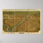 Spokane Washington 1905 Antique Panoramic Map Posters
