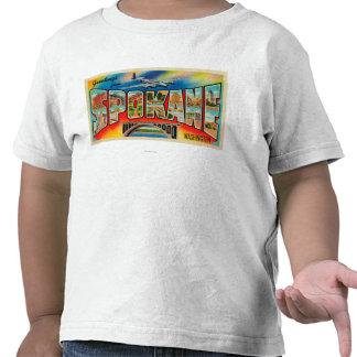 Spokane, Washington - escenas grandes 3 de la Camiseta