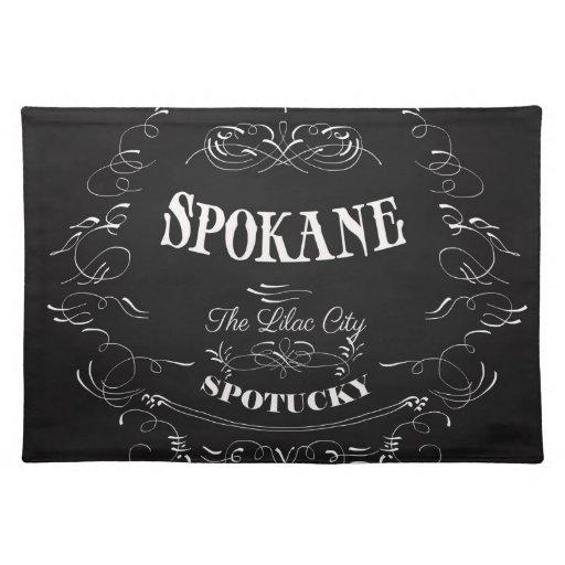 Spokane Washington - la ciudad de la lila Mantel Individual