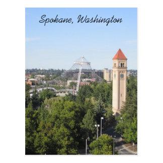 Spokane Washington Tarjeta Postal