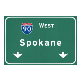 Spokane Washington wa Interstate Highway Freeway : Photo Print