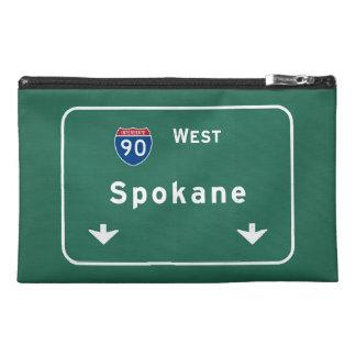 Spokane Washington wa Interstate Highway Freeway : Travel Accessories Bag