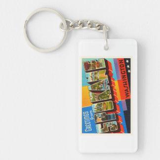 Spokane Washington WA Old Vintage Travel Souvenir Keychain