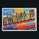 "Spokane Washington WA Old Vintage Travel Souvenir Placemat<br><div class=""desc"">Spokane,  Washington WA  A nostalgic,  vintage travel souvenir postcard image,  an authentic retro design. Greetings from the American Travelogue Virtual Touring Company!</div>"
