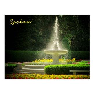 Spokane's Duncan Gardens in Manito Park Postcard