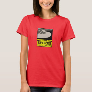 Spokes Logo Red T-shirt: Women T-Shirt