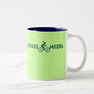 SPOKESMODEL Punny Ladies Cycling Two-Tone Coffee Mug
