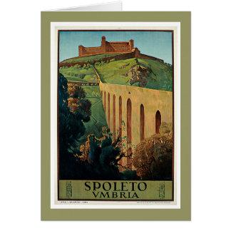 Spoleto Umbria Italy Vintage Travel Poster Art Card