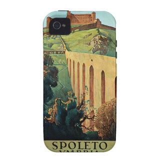 Spoleto Vmbria Vintage Travel Poster iPhone 4 Case
