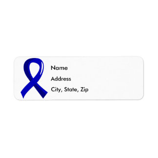 Spondylitis Ankylosing Blue Ribbon 3 Etiqueta De Remite