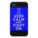 Spondylitis Ankylosing guarda calma y sigue luchan iPhone 4/4S Fundas
