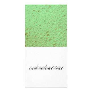 sponge,aqua photo card template