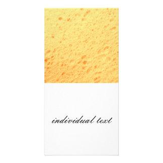 sponge,beige picture card