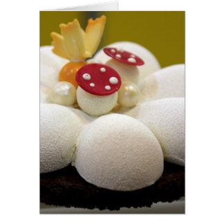 Sponge cake card