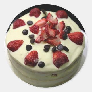 Sponge cake round sticker