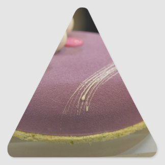 Sponge cake triangle stickers