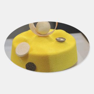 Sponge cake oval stickers