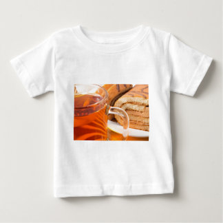 Sponge cake with chocolate filling and tea baby T-Shirt