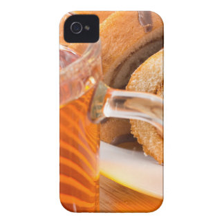 Sponge cake with chocolate filling and tea iPhone 4 Case-Mate case