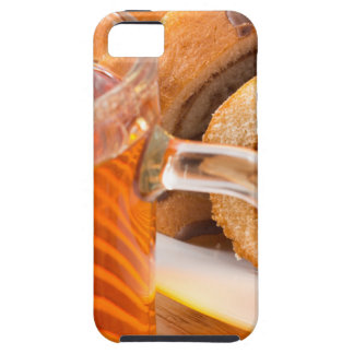 Sponge cake with chocolate filling and tea iPhone SE/5/5s case
