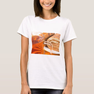 Sponge cake with chocolate filling and tea T-Shirt