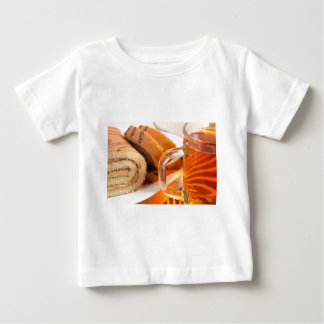 Sponge cake with chocolate filling baby T-Shirt