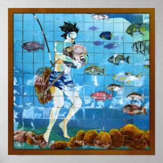 Sponge Diver Poster