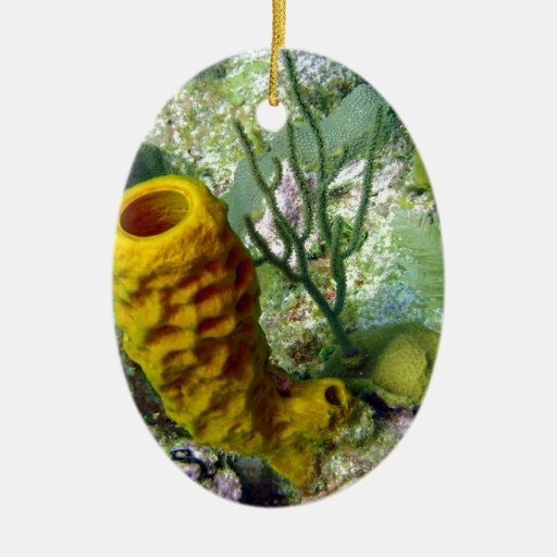 sponge Double-Sided oval ceramic christmas ornament