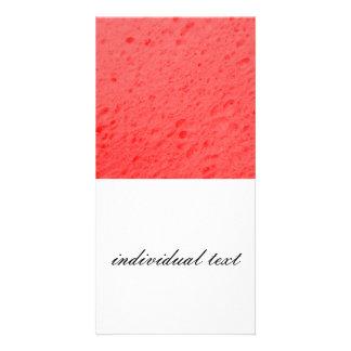 sponge,pink custom photo card