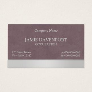 Sponged Burgundy & Silver Business Card