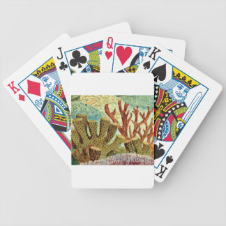 sponges and coral bicycle playing cards