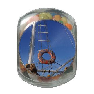 Sponges Glass Jar