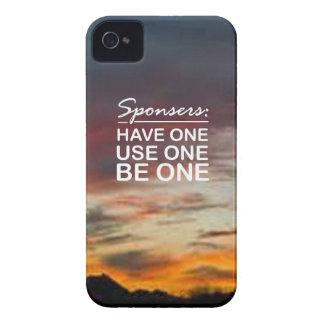 Sponsers, tiene uno, uso uno, sea uno funda para iPhone 4