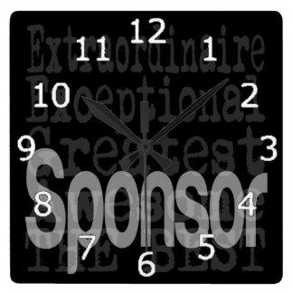 Sponsor Extraordinaire Square Wall Clock