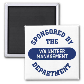 Sponsored by the Volunteer Management Department 2 Inch Square Magnet
