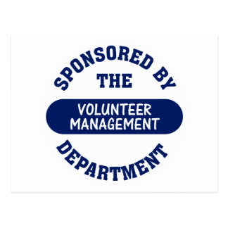 Sponsored by the Volunteer Management Department Postcard