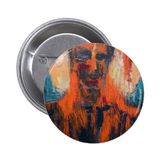Spontaneous Human Combustion abstract portrait Button