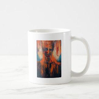 Spontaneous Human Combustion (abstract  portrait) Coffee Mug