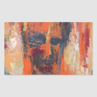 Spontaneous Human Combustion (abstract  portrait) Rectangular Sticker