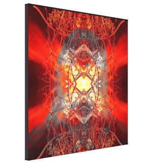 Spontaneous human combustion canvas print