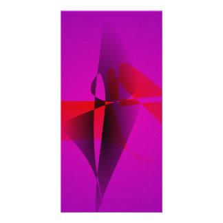 Spontaneous Purple Abstract Digital Image Photo Card