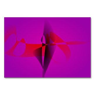 Spontaneous Purple Abstract Digital Image Table Card