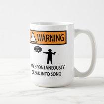 Spontaneous Singer Classic White Coffee Mug