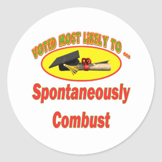 Spontaneously Combust Classic Round Sticker